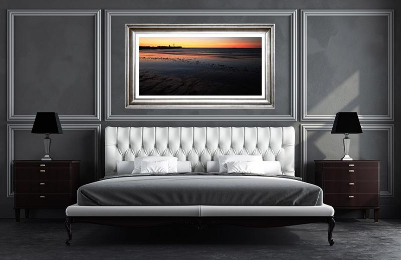 Artwork - Cadiz Beach Sunset Sample Frame On Wall