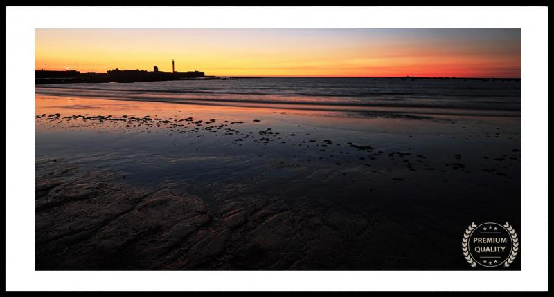 Cadiz Beach Sunset Sample Frame