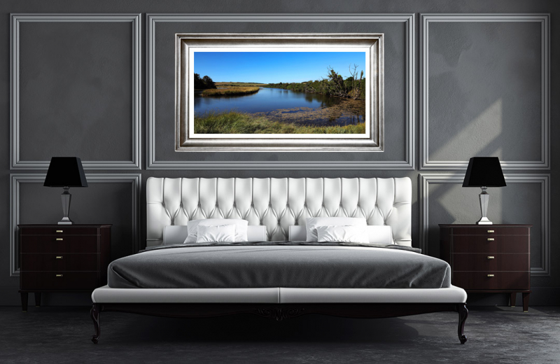 Artwork - Cuckmere River UK - Frame on Wall