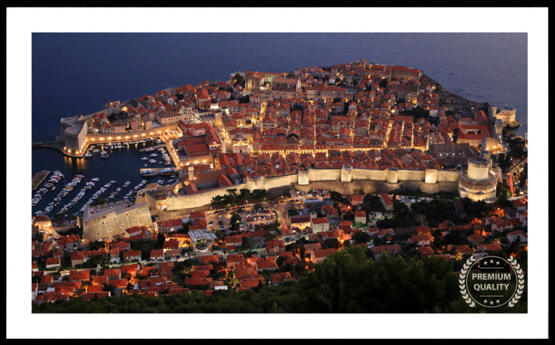 Dubrovnik Croatia Twilight Frame