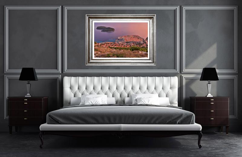 Artwork - Dubrovnik Croatia Sunset Frame On Wall