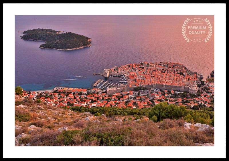 Dubrovnik Croatia Sunset Frame