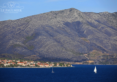 Mountain Facing Korcula Croatia