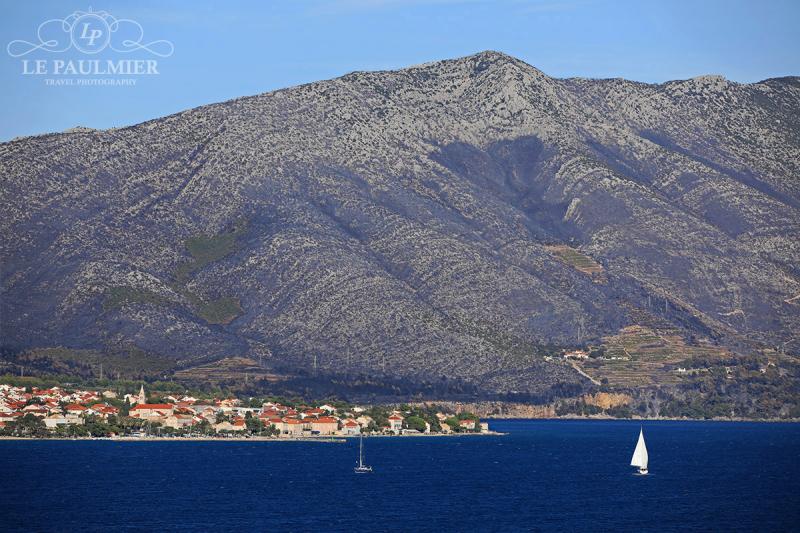 Mountain Facing Korcula Croatia
