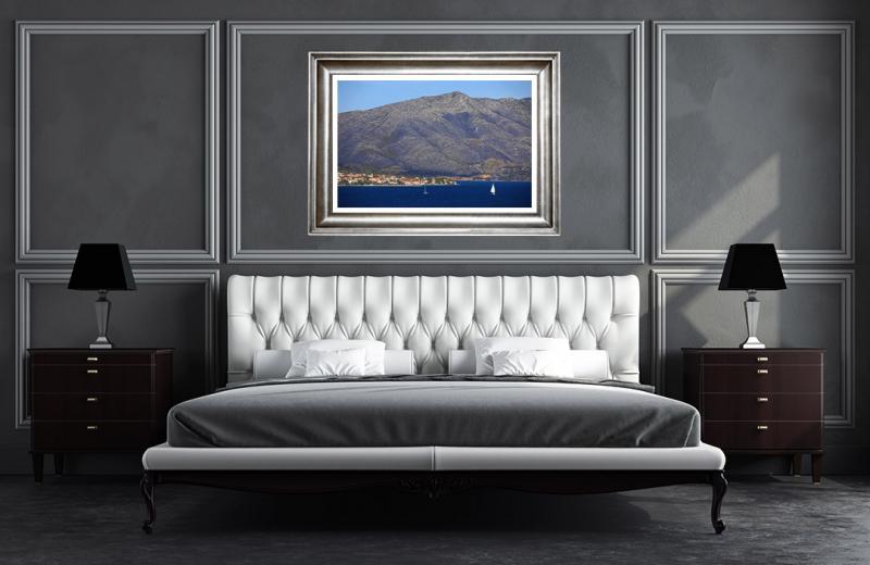 Artwork - Mountain Facing Korcula Croatia Photo Frame On Wall
