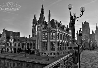 Ghent Belgium Bridge Sunrise