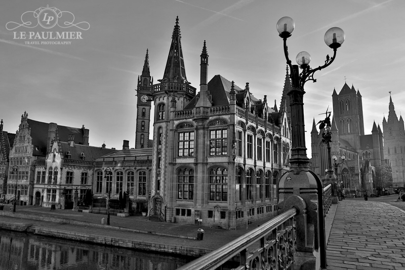 Ghent Belgium Bridge Sunrise