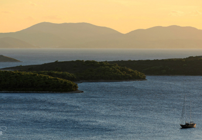 Sunset near Hvar Croatia