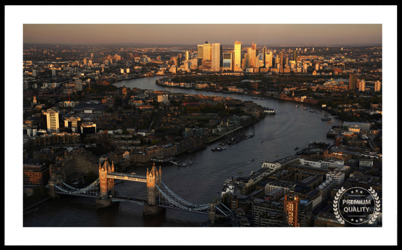 Artwork - London Aerial Skyline Sample Frame