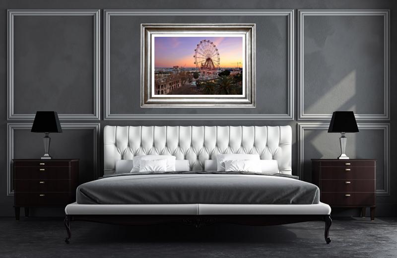 Artwork - Malaga Ferris Wheel Sample Frame On Wall
