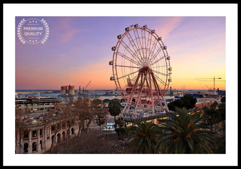 Malaga Ferris Wheel Sample Frame