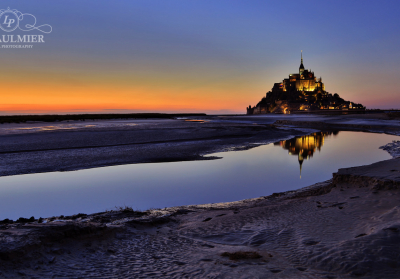 Mont Saint Michel France Sunset