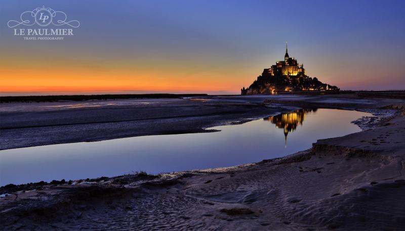Mont Saint Michel France Sunset