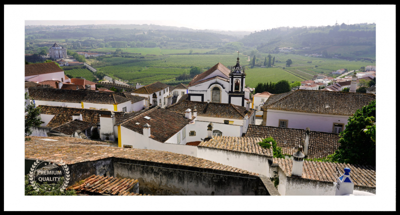 Obidos Morning View Sample Frame