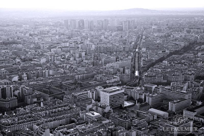 Paris France Black & White Sunset