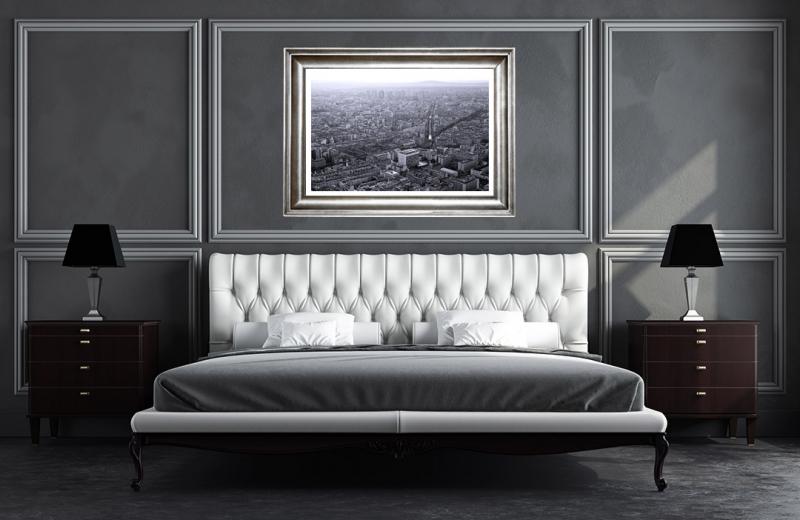 Artwork - Paris Black & White Sunset Sample Frame