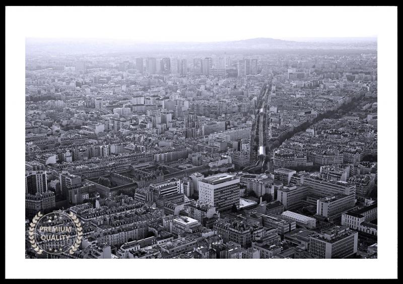 Paris Black & White Sunset Sample Frame