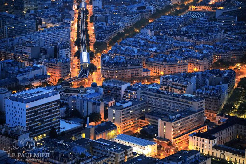 Paris France Sunset Metro