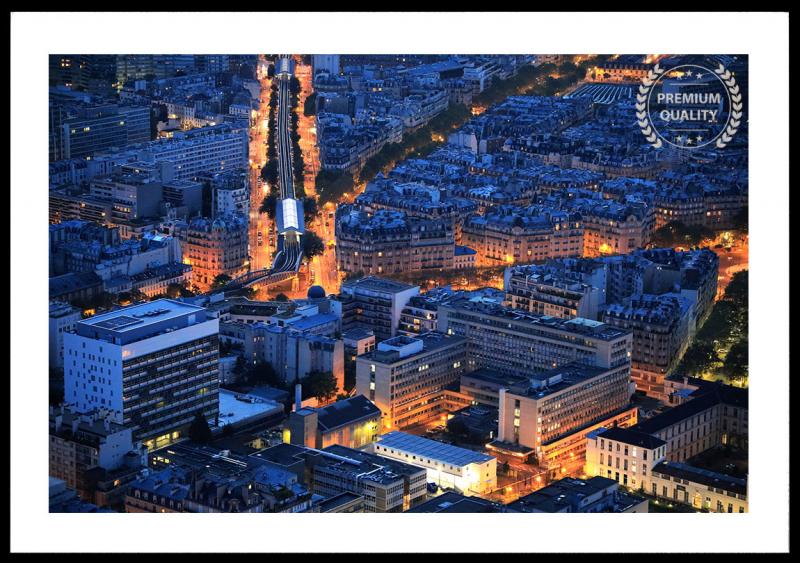 Parisian Sunset Metro Sample Frame