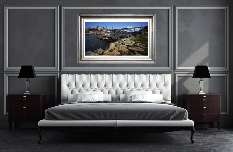 Artwork - Porto Douro Waterfront Sample Frame On Wall