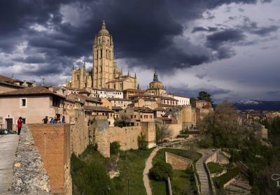 Segovia Spain Spring Scenery