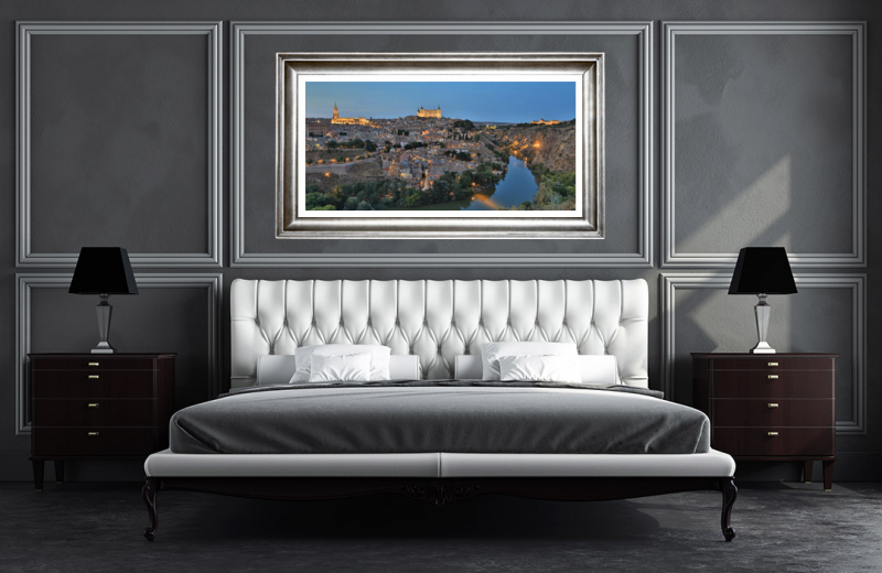 Artwork - Toledo Sunset City Views Sample Frame On Wall