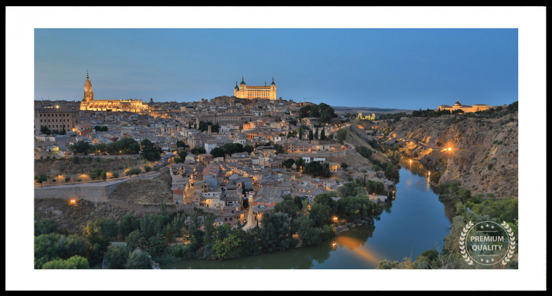 Toledo Sunset City Views Sample Frame On Wall