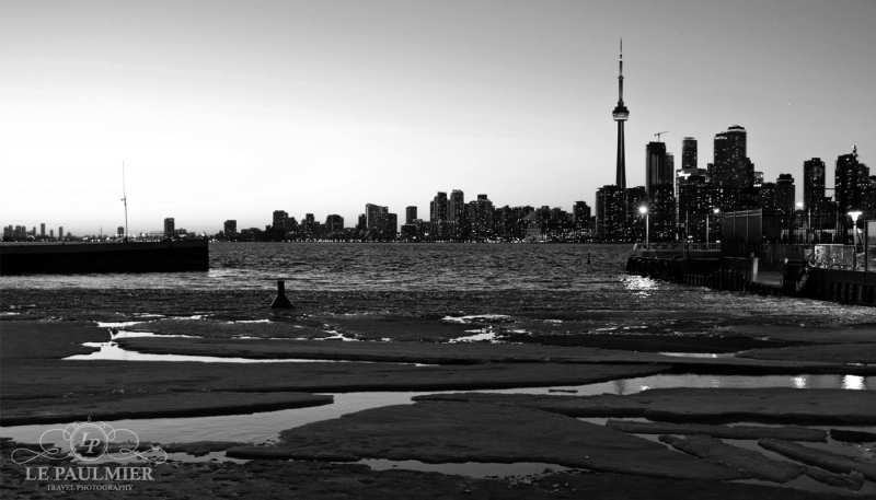 Toronto Canada Spring Sunset Black & White