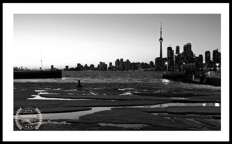 Toronto Spring Sunset Sample Frame (black & white)