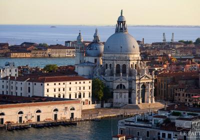 Venice Italy Overlooking The Basilica Di Santa Maria
