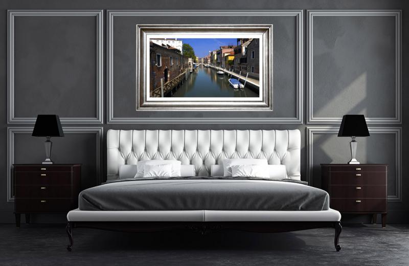 Artwork - Venice Morning Canal Sample Frame On Wall