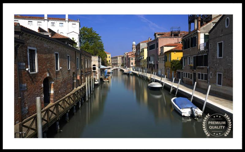 Artwork - Venice Morning Canal Sample Frame