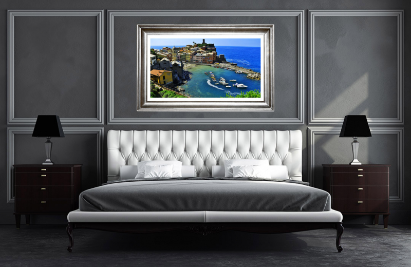 Artwork - Vernazza Summer Afternoon Sample Frame On Wall